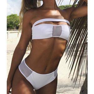 diviine Swim - White sexy mesh bikini